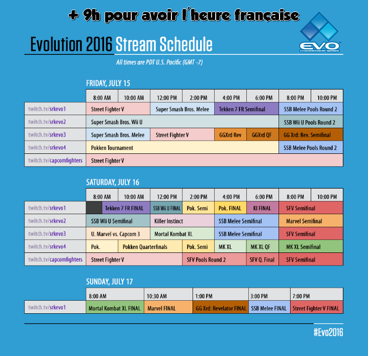 Evo Horaires