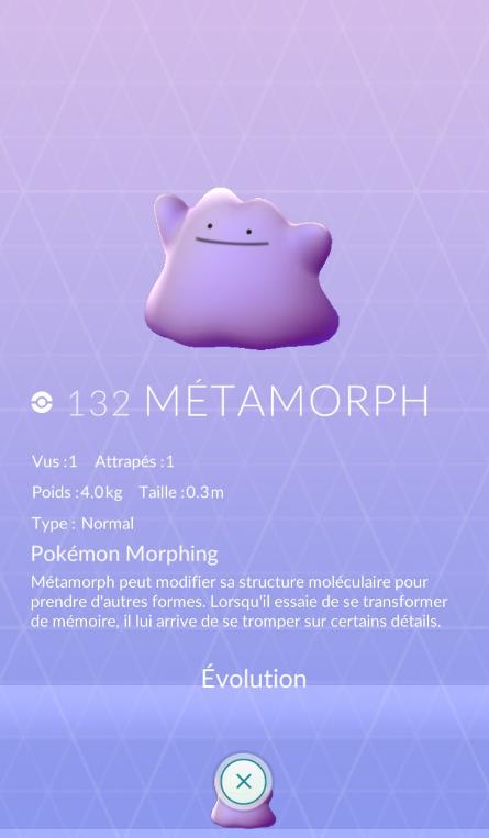 metamorph pokémon go